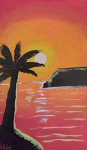 Warm sunset - Hallie's art