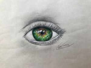 An emerald eye
