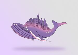 Whale With The City - JD Cartoon