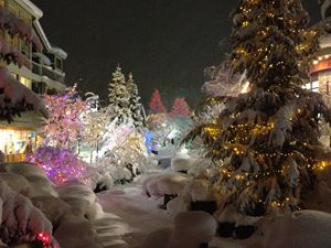 Whistler Village at Christmas