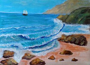 Morning ocean scene