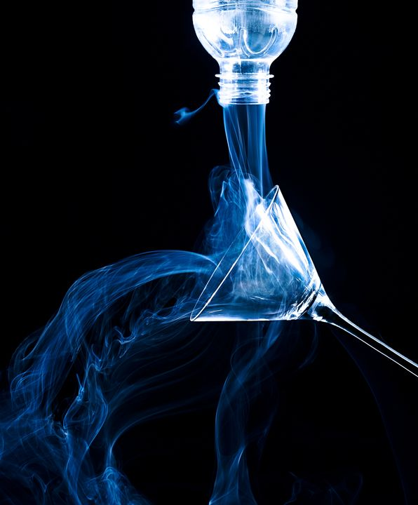 Smoking Glass and Bottle - Marco Moroni Photography