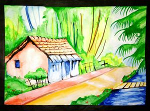 Landscape water colour painting
