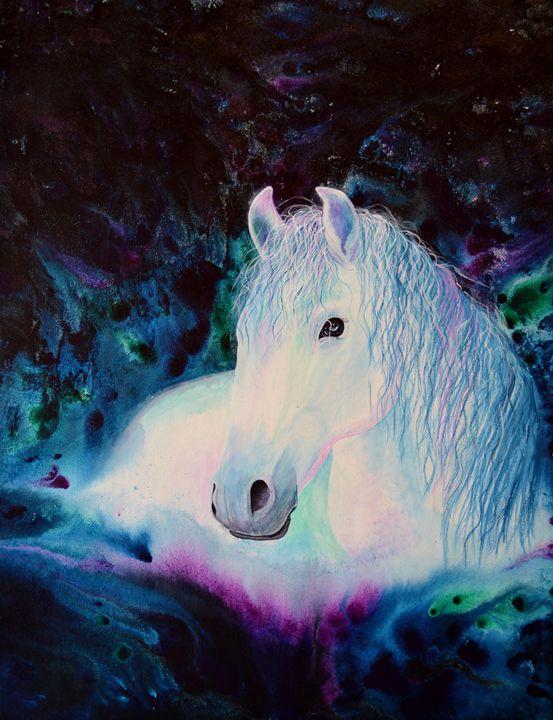 """""""Mystique"""" horse spirit - Artist Leanne Davy"""