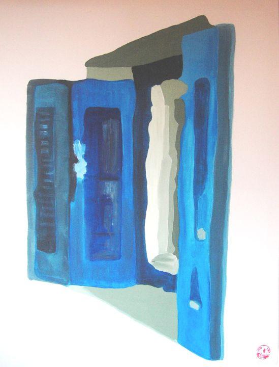 Blue shutter II - Nine