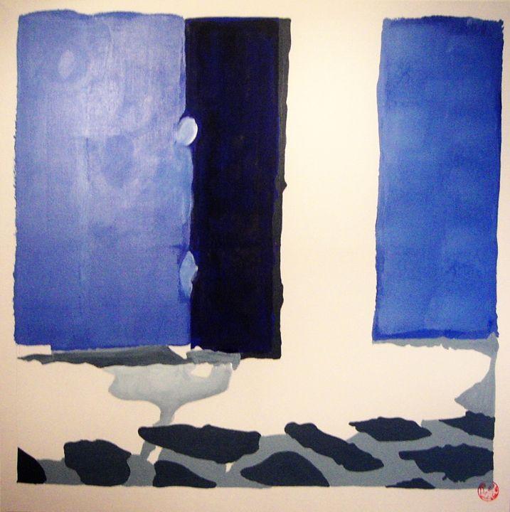 Blue shutter 1 - Nine