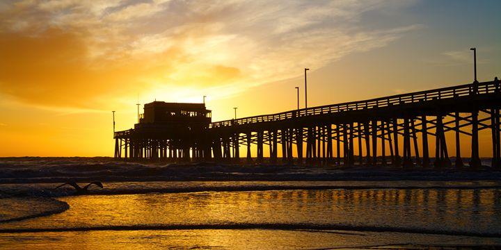 Newport Beach California Pier at Sun - Elite Image Photography