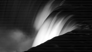Niagara Falls New York in Black and
