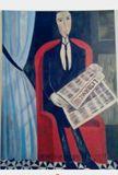 Lukisan naif: Port of an unknown Man