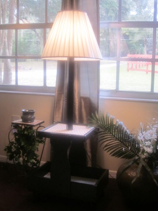 """Miami Art Deco"" Lamp Table - New Life Style Creations"