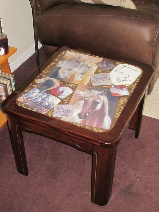 """""""Gallery"""" Side table - New Life Style Creations"""