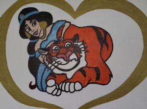 Jasmine and her tiger