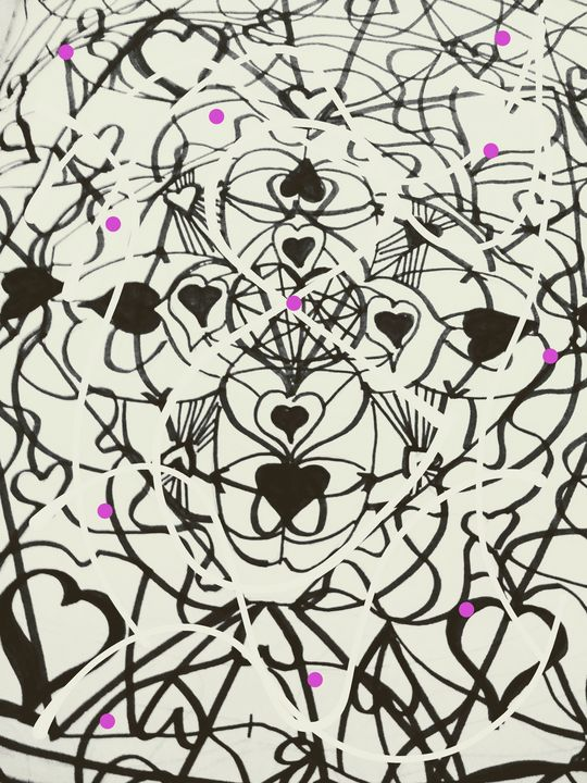 Black and White hearts to find - Renee Marie D