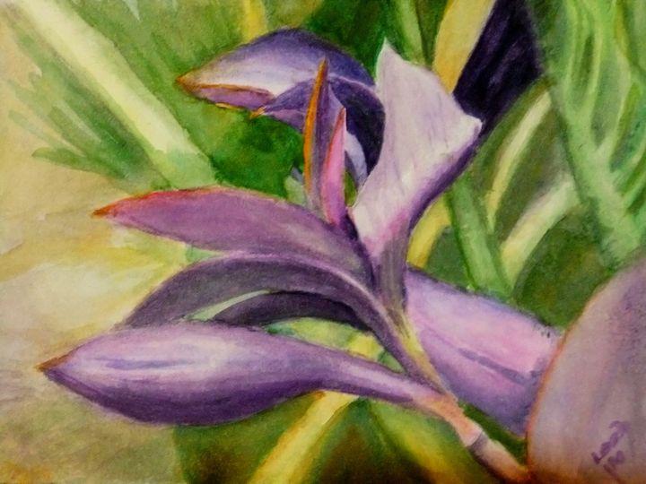 Purple Majesty - Leah Saban Art