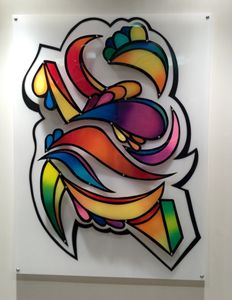 Airbrushed Wall Sculpture