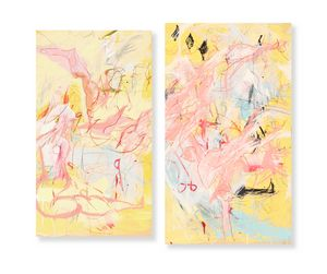 diptych in pink