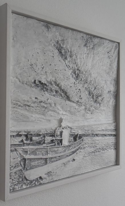 Relief - Boat on the beach - silver - Reliefs
