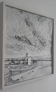 Relief - Boat on the beach - silver