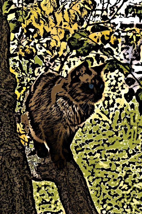 Dede in a Tree 2 - Paizley's Digital Art