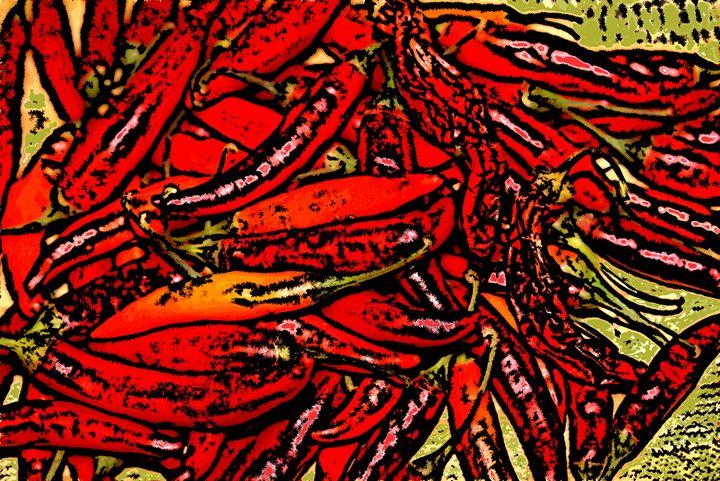 Thai Chilis - Paizley's Digital Art