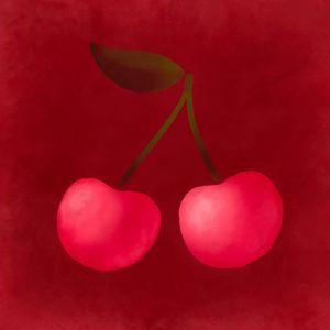 Cherry watercolor