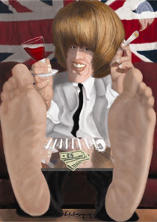 caricature Brian Jones - KS´art