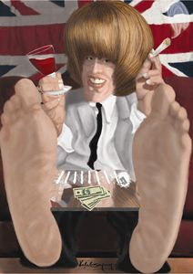 caricature Brian Jones