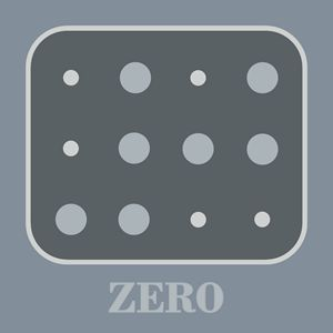 Colored Braille Number Zero