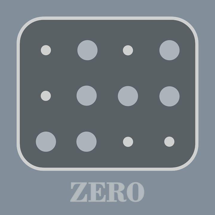 Colored Braille Number Zero - Peter Potamus Gallery