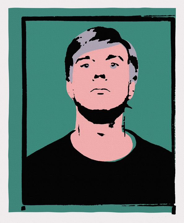 Andy Warhol Self-Portrait 1964 Green - Peter Potamus Gallery