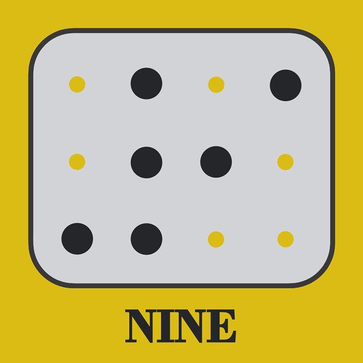 Colored Braille Number Nine - Peter Potamus Gallery