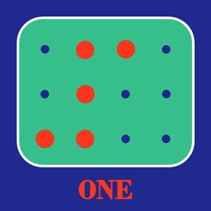 Colored Braille Number One