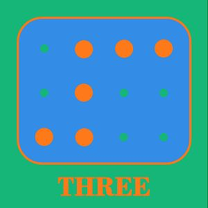 Colored Braille Number Three