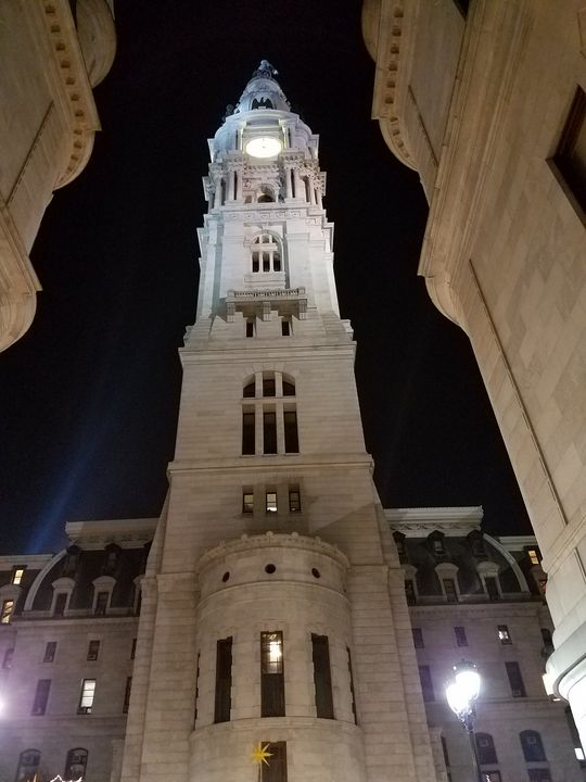 Philly Downtown at Night - DeBey DeSigns