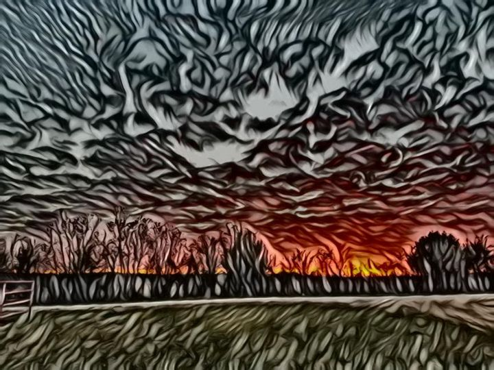 Sunset on fire - DeBey DeSigns