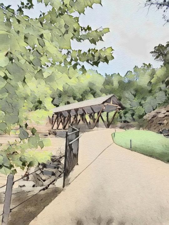 Covered Bridge on Top of the Rock - DeBey DeSigns
