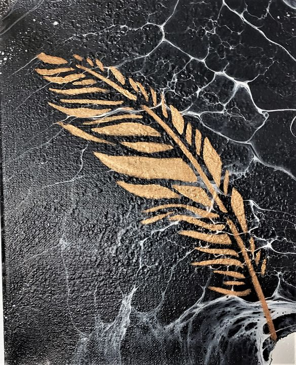Feather on Marble - The Pour Ladies