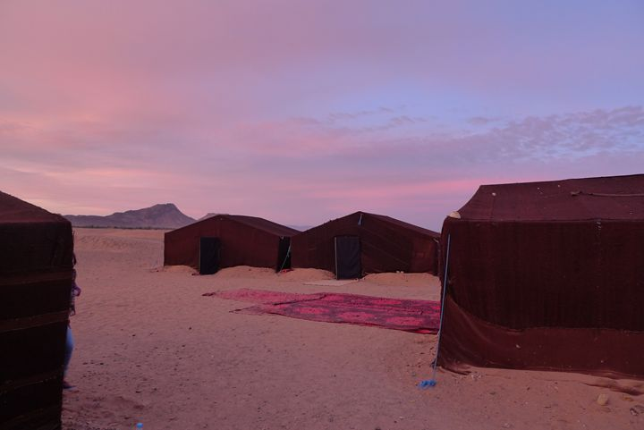 Sunrise over Berber camp - John Brooks Art & Photography
