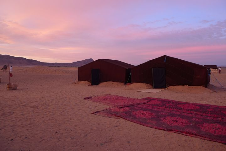 Sunrise over Berber tents - John Brooks Art & Photography