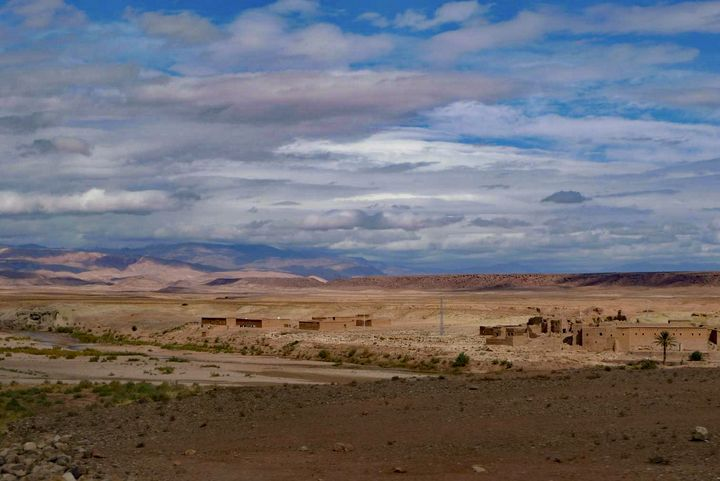 Clouds & shadows over desert - John Brooks Art & Photography