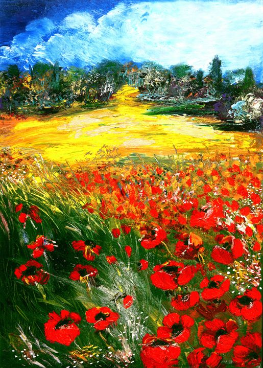 Rabbi's Poppies - Art from the Soul