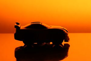 Toy Race Car Sunset Silhouette