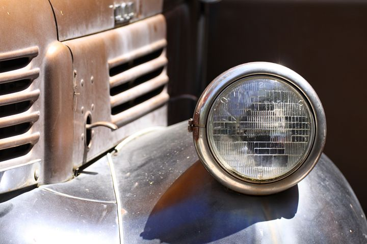 Vintage Ford Head Light - Art from the Soul