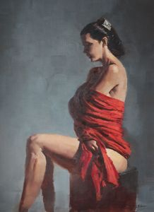 Red Cloth - Mark Sypesteyn fine art