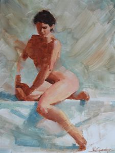 Female figure study - Mark Sypesteyn fine art