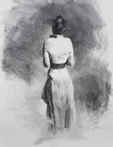 Dress and drapery study - Mark Sypesteyn fine art