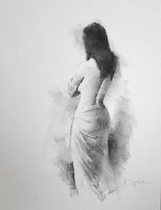 Female back study - Mark Sypesteyn fine art