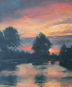 Landscape at Sunset in Noordwijkerho - Mark Sypesteyn fine art