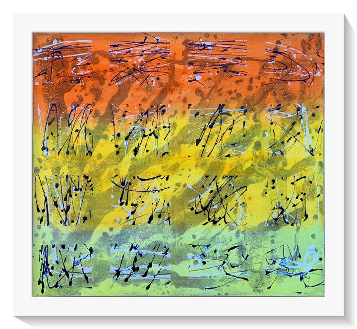 Autumn, wind, falling leaves - abstracte toni