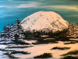 Winter at Mount Rainier
